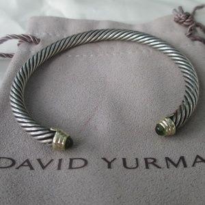 David Yurman Peridot Cuff classic cable bracelet
